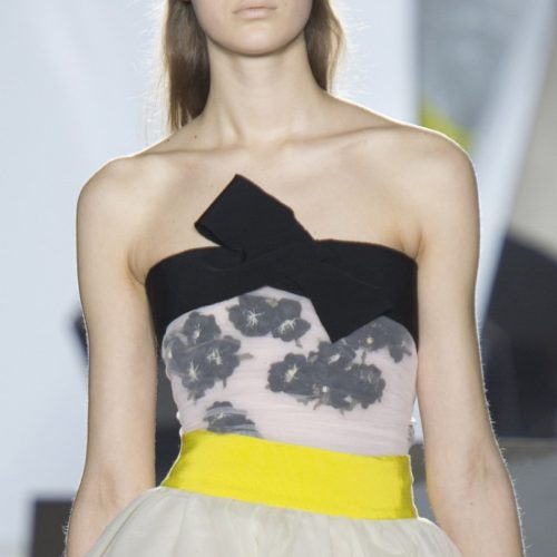 Giambattista Valli Couture Spring 2014 strapless bow top as seen on Meghan Markle