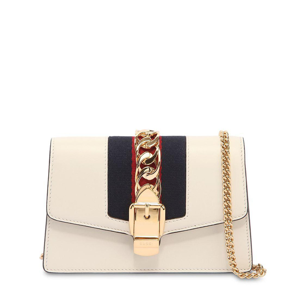 Gucci White Super Mini Sylvie Chain Bag as worn by Meghan Markle / Duchess of Sussex