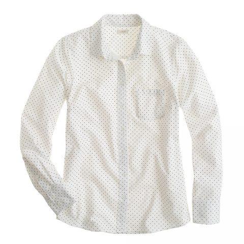 J.Crew Oxford polka dot boyfriend shirt as seen on Meghan Markle