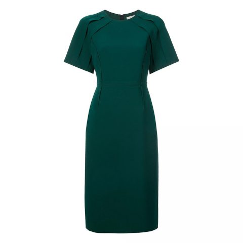 Jason Wu Collection Peacock Teal Dress as seen on Meghan Markle / Duchess of Sussex
