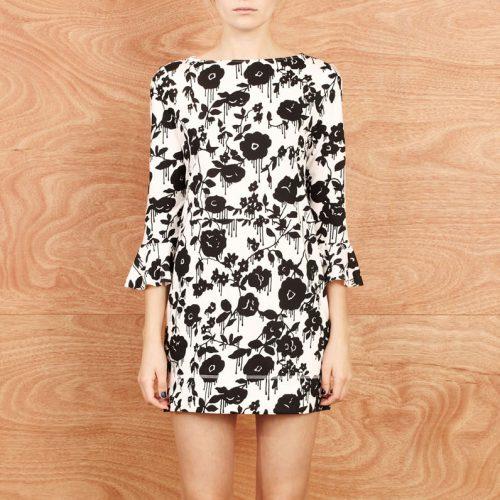 Karen Walker Frill Cuff Dress as seen on Meghan Markle