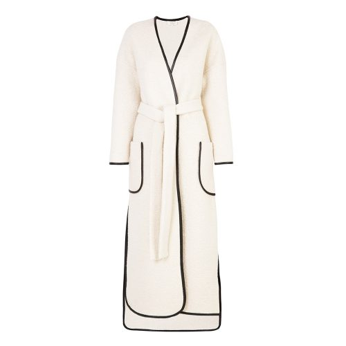 LUBLU Kira Plastinina ivory wool coat as seen on Meghan Markle