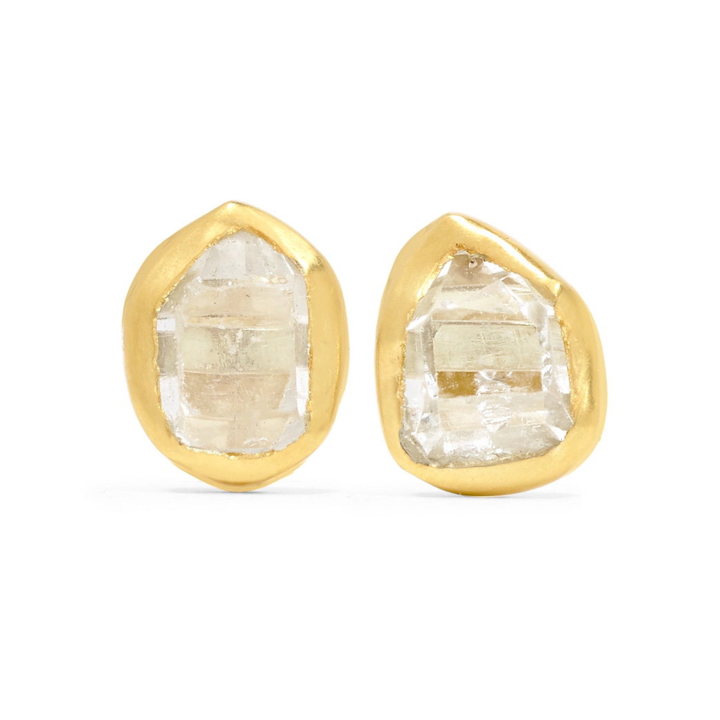 Pippa Small 18-karat gold Herkimer diamond earrings as seen on Meghan Markle, the Duchess of Sussex