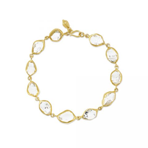 Pippa Small Herkimer Diamond Bracelet as seen on Meghan Markle, the Duchess of Sussex