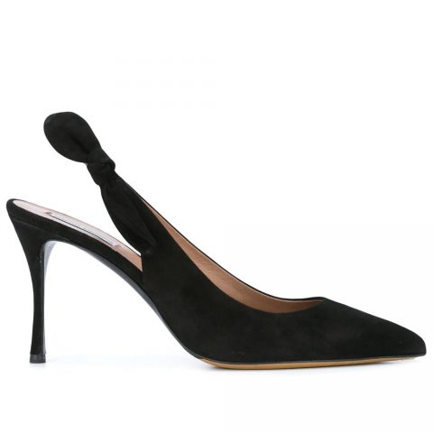 Tabitha Simmons Bow Suede Pumps as seen on Meghan, Duchess of Sussex