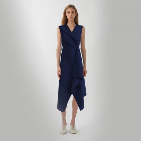 Dion Lee Folded Sail dress in Navy as worn by Meghan Markle / Duchess of Sussex