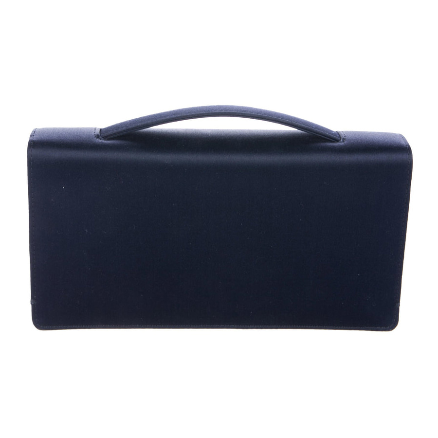 816e3c58394 Dior navy satin clutch bag as worn by Meghan, Duchess of Sussex