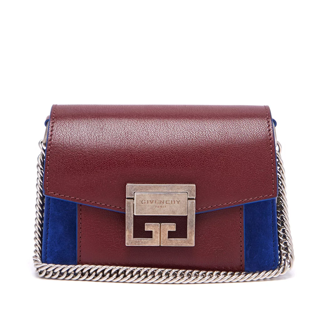 Givenchy GV3 small suede and leather crossbody bag as seen on Meghan Markle, the Duchess of Sussex