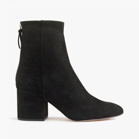 J.Crew 'Sadie' ankle boots in Black suede as worn by the Duchess of Sussex, Meghan Markle