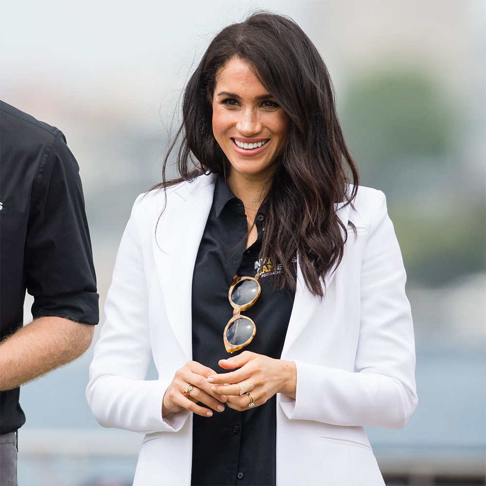 Meghan, Duchess of Sussex at the Invictus Games Sydney 2018 Jaguar Land Rover Driving Challenge on Cockatoo Island.
