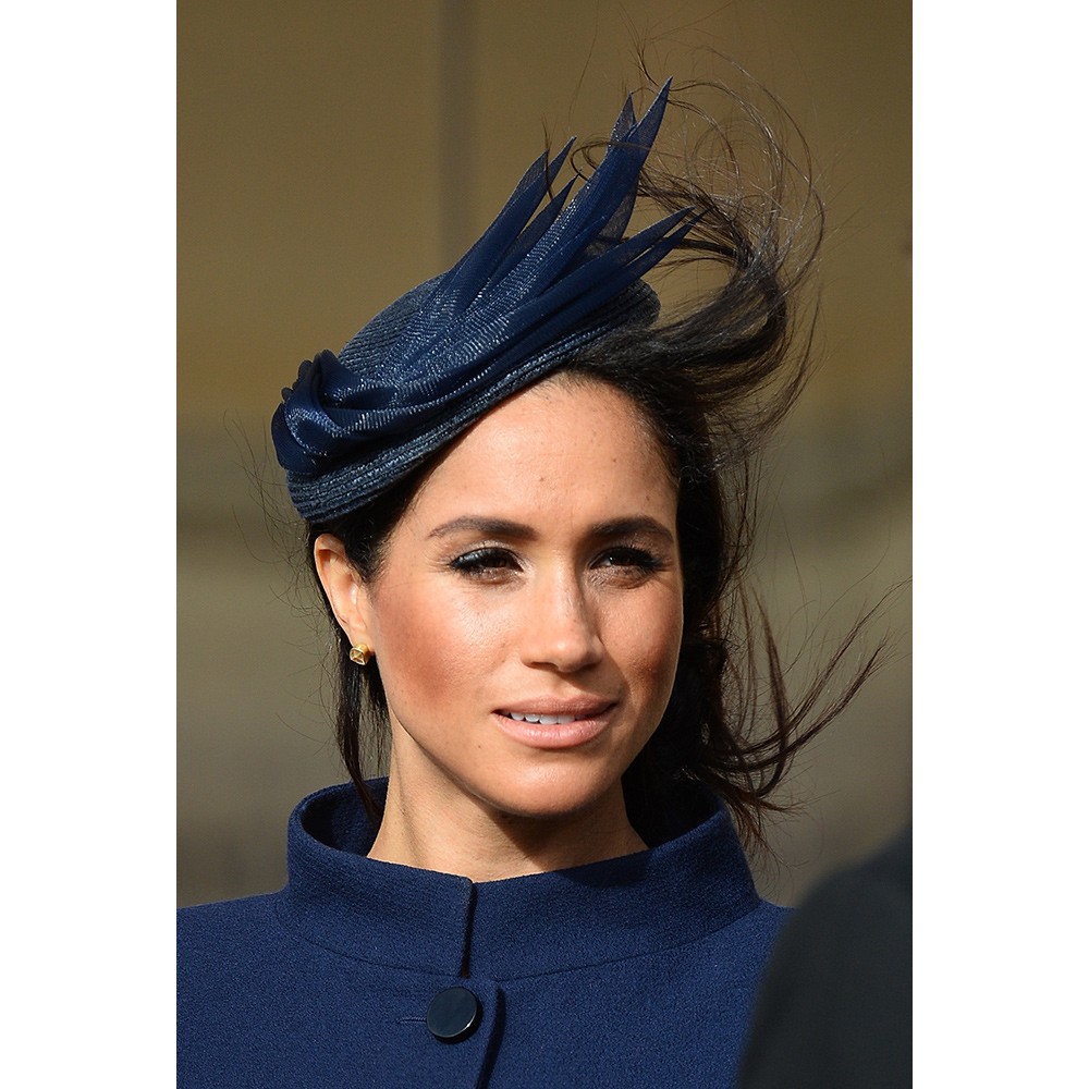 Meghan Markle, the Duchess of Sussex attends the wedding of Princess Eugenie of York and Mr. Jack Brooksbank at St. George's Chapel on October 12, 2018 in Windsor, England.