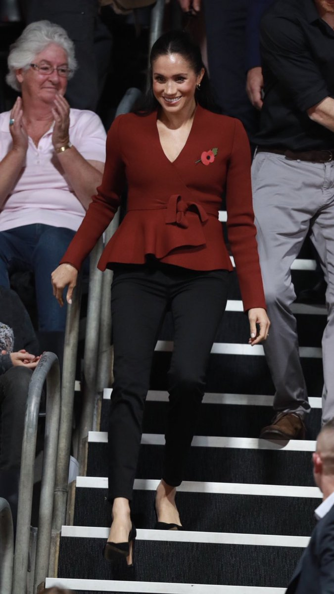 Meghan, The Duchess of Sussex, at the Invictus Games Sydney 2018 Wheelchair Basketball Final.