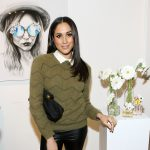Meghan Markle at the Marc Jacobs Daisy Chain Tweet Pop Up Shop Party at Marc Jacobs Pop Up Shop on February 6, 2014 in New York City.