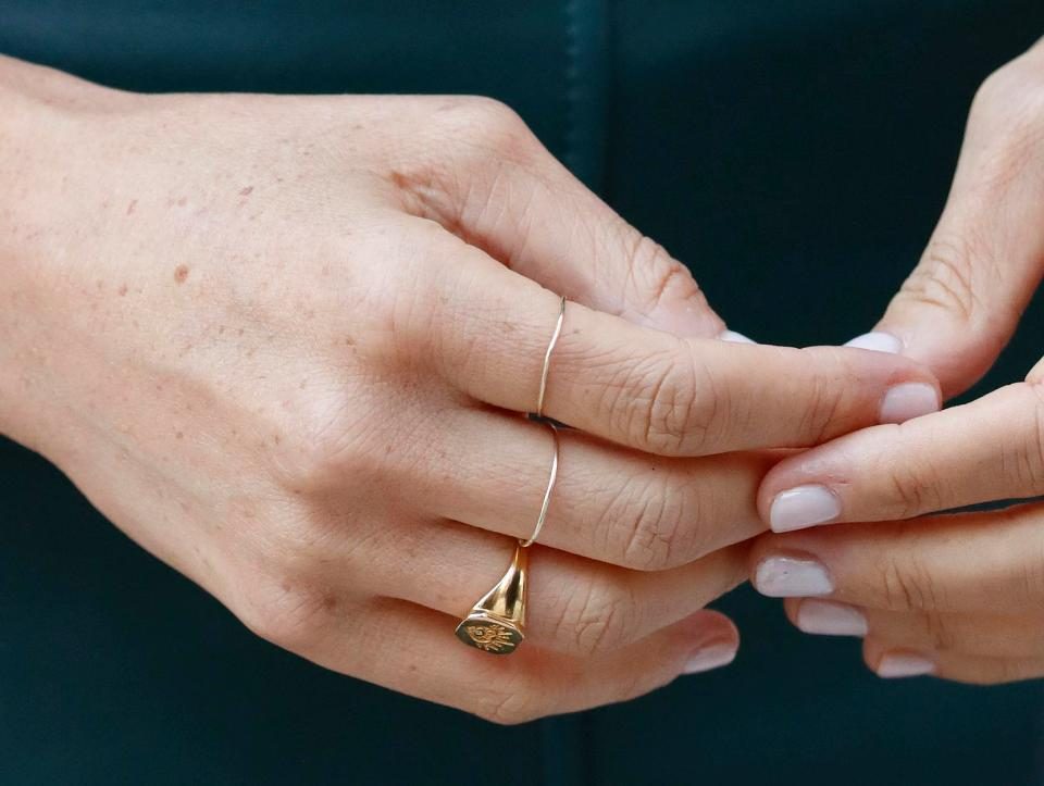 Missoma Mantra Signet Ring Meghan Maven