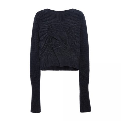 Misha Nonoo 'Jacinta' cropped sweater in Navy as seen on Meghan Markle