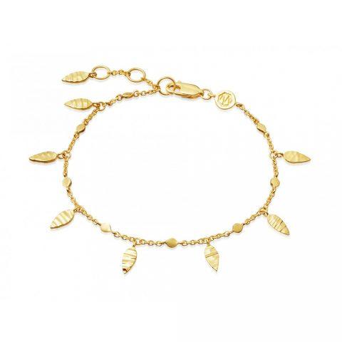 Missoma Gold Leaf Bracelet as seen on Meghan Markle, Duchess of Sussex