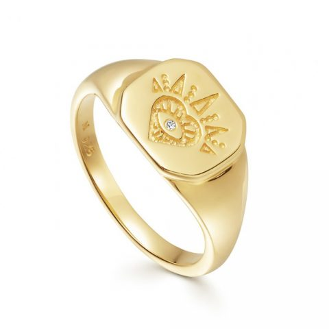Missoma Mantra Open Heart Signet Ring as seen on Meghan Markle, Duchess of Sussex