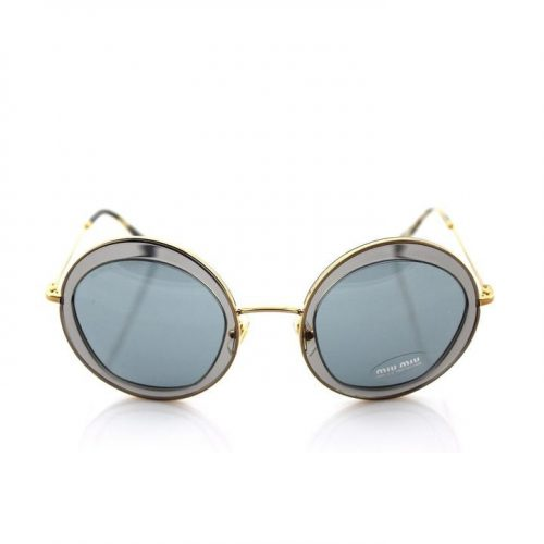 Miu Miu Round Frame Transparent Sunglasses as seen on Meghan Markle