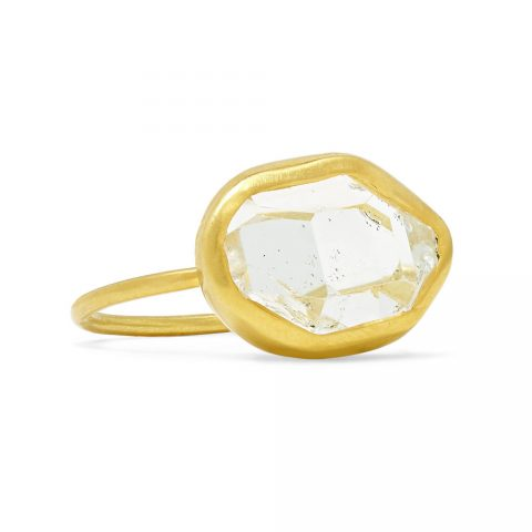Pippa Small Herkimer Diamond Ring as seen on Meghan Markle, the Duchess of Sussex