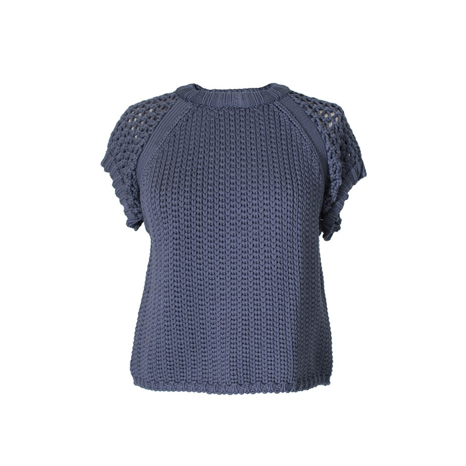Tibi tube woven yarn cropped sweater as seen on Meghan Markle