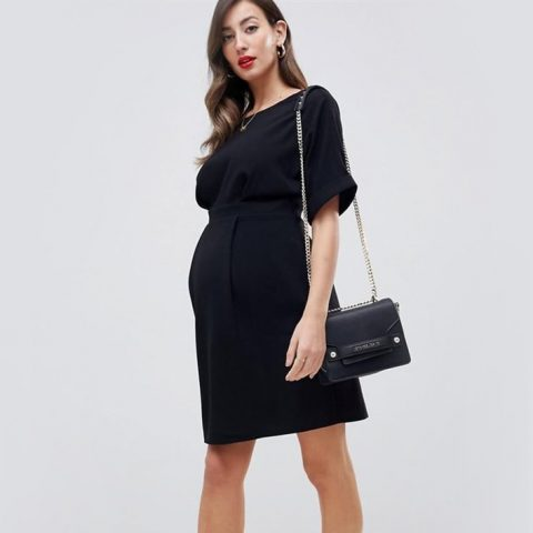 ASOS DESIGN Maternity wiggle mini dress as seen on Meghan, Duchess of Sussex.