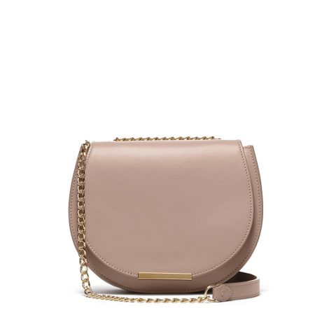 Cuyana Mini Chain Saddle Bag in Quartz as seen on Meghan Markle / Duchess of Sussex