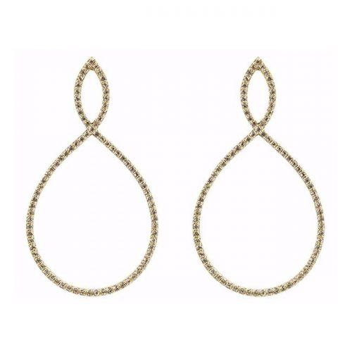 Emily Mortimer 'Nova' Gold White Topaz Earrings as seen on Meghan, Duchess of Sussex