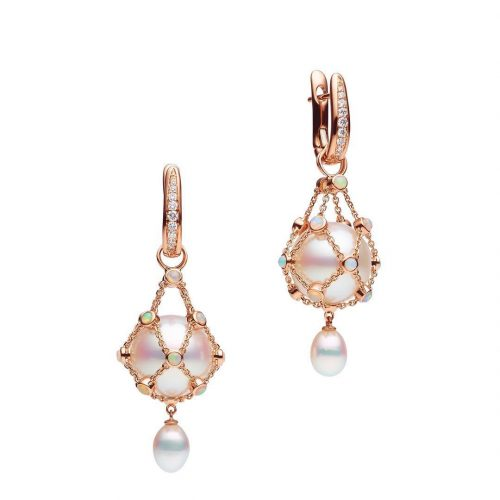 Paspaley 'Lavalier' opal hero earrings in Rose Gold as worn by Meghan, Duchess of Sussex.