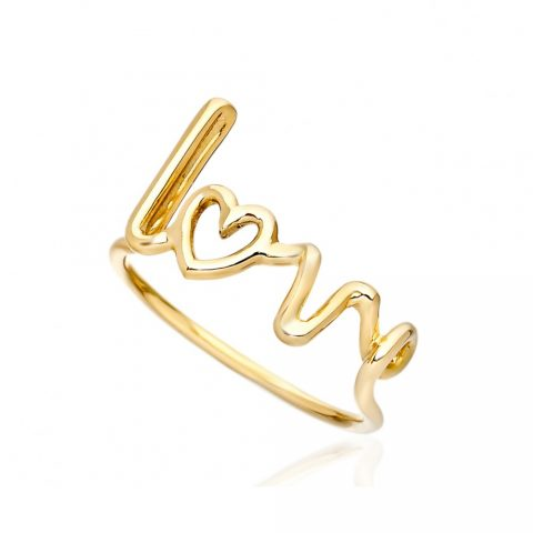Solange Azagury-Partridge yellow gold love ring as seen on Meghan, Duchess of Sussex
