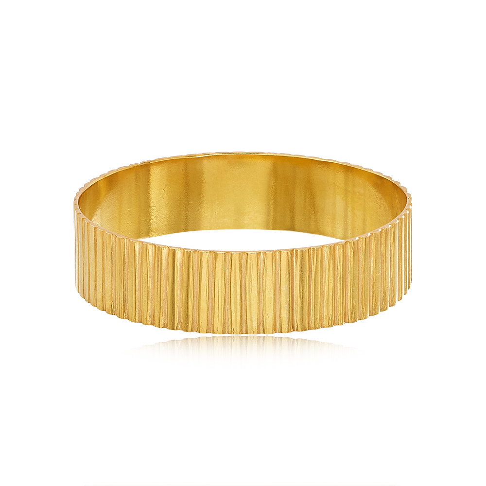 Pippa Small 'Wajiha' Silver Gold Plated Cuff as seen on Meghan, Duchess of Sussex