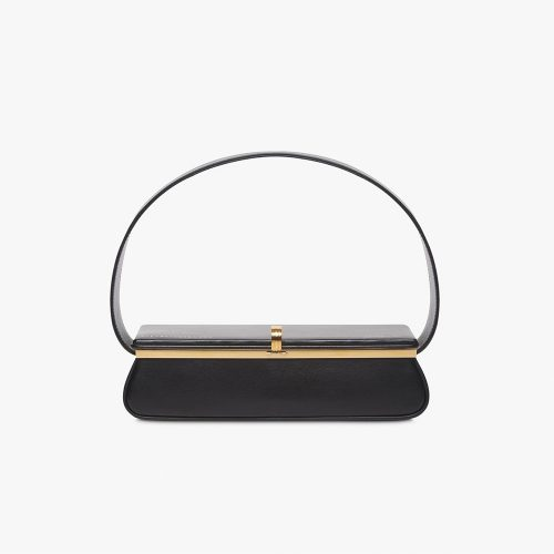 Victoria Beckham Powder Box Bag in Black as seen on Meghan, Duchess of Sussex.