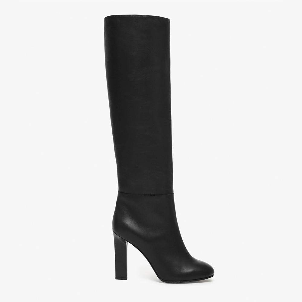 Victoria Beckham 'Rise' knee heel boots as seen on Meghan, Duchess of Sussex.