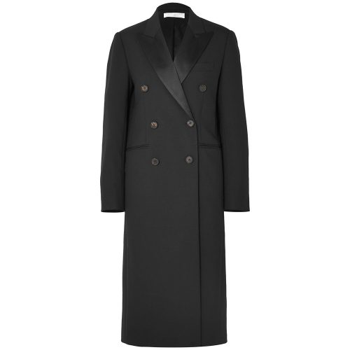 Victoria Beckham Satin-trimmed Coat as seen on Meghan, Duchess of Sussex.