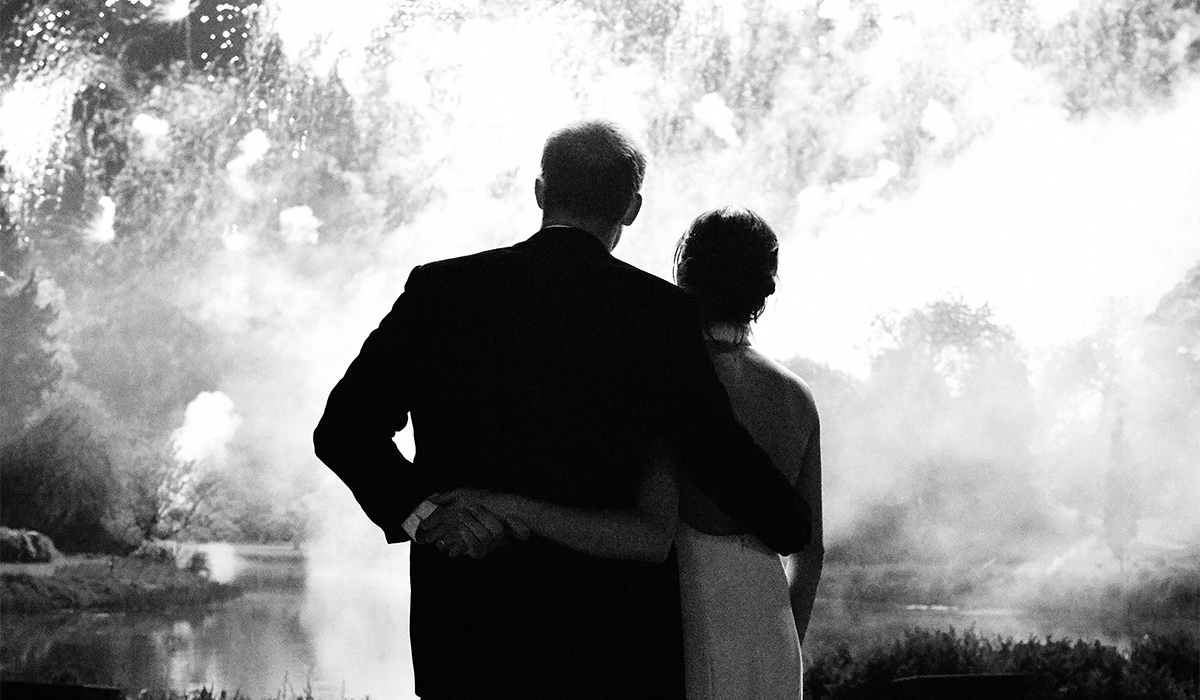 Duke and Duchess of Sussex wedding photograph for 2018 Christmas card.