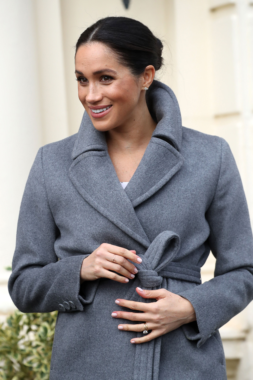 Meghan, Duchess of Sussex visits the Royal Variety Charity's Brinsworth House on December 18, 2018 in Twickenham, England.