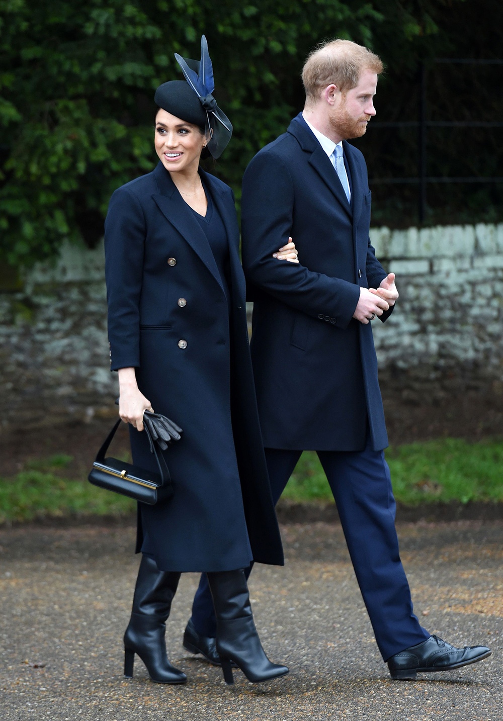 Meghan, Duchess of Sussex attends Christmas Day Church service at Church of St Mary Magdalene on the Sandringham estate on December 25, 2018 in King's Lynn, England.