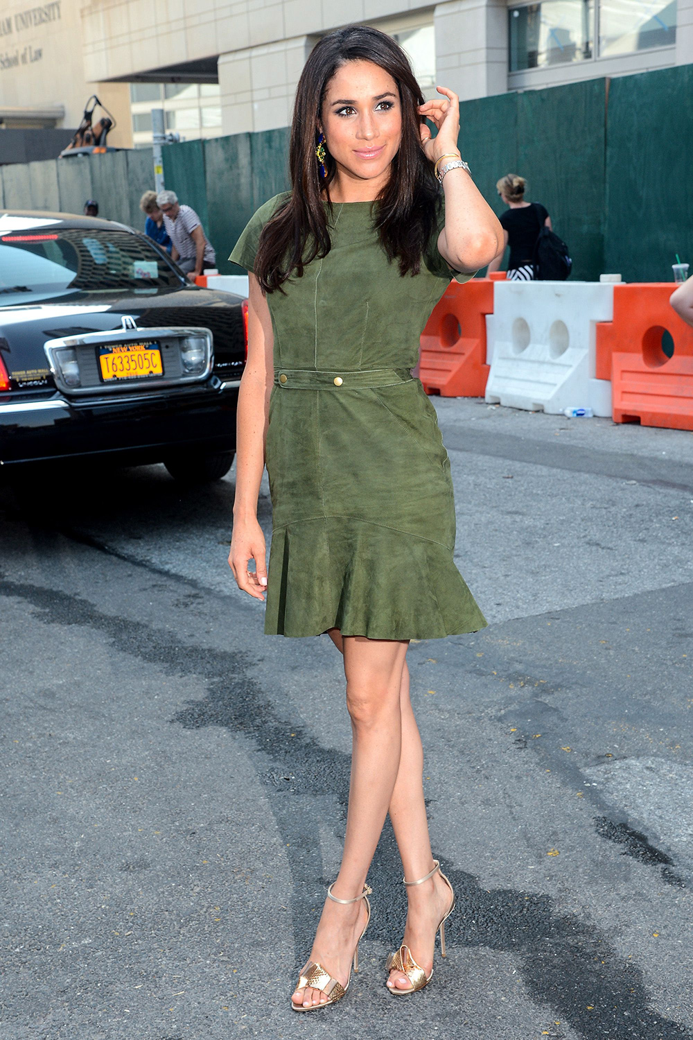 Meghan Markle attends 2014 Mercedes-Benz Fashion Week during day 7 on September 11, 2013 in New York City.
