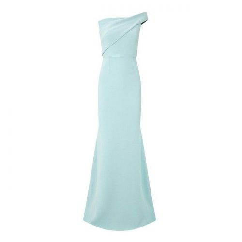 Roland Mouret 'Lockton' one shoulder crepe gown in Blue as seen on Meghan Markle / Duchess of Sussex.