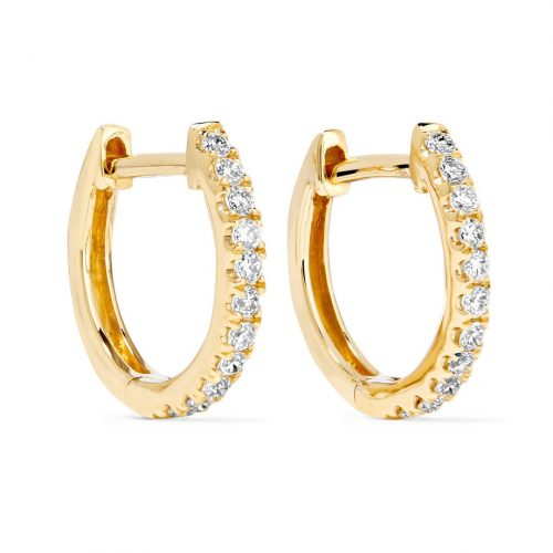 Anita Ko Huggies 18-karat Gold Diamond Earrings as seen on Meghan, Duchess of Sussex
