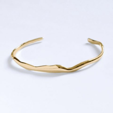 Bar Jewellery Gold Plated Wide Ripple Bracelet as seen on Meghan, Duchess of Sussex