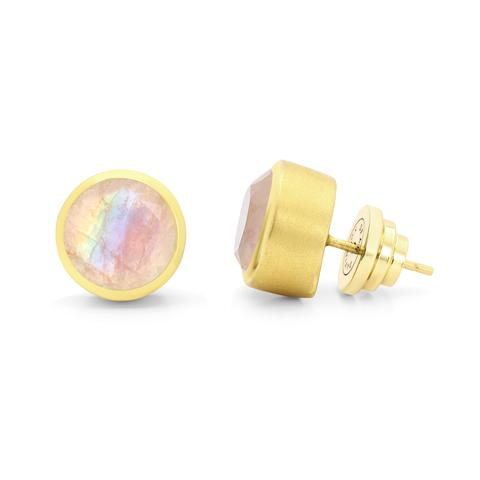 Dean Davidson Signature Midi Knockout Studs in Rainbow Moonstone as seen on Meghan, Duchess of Sussex