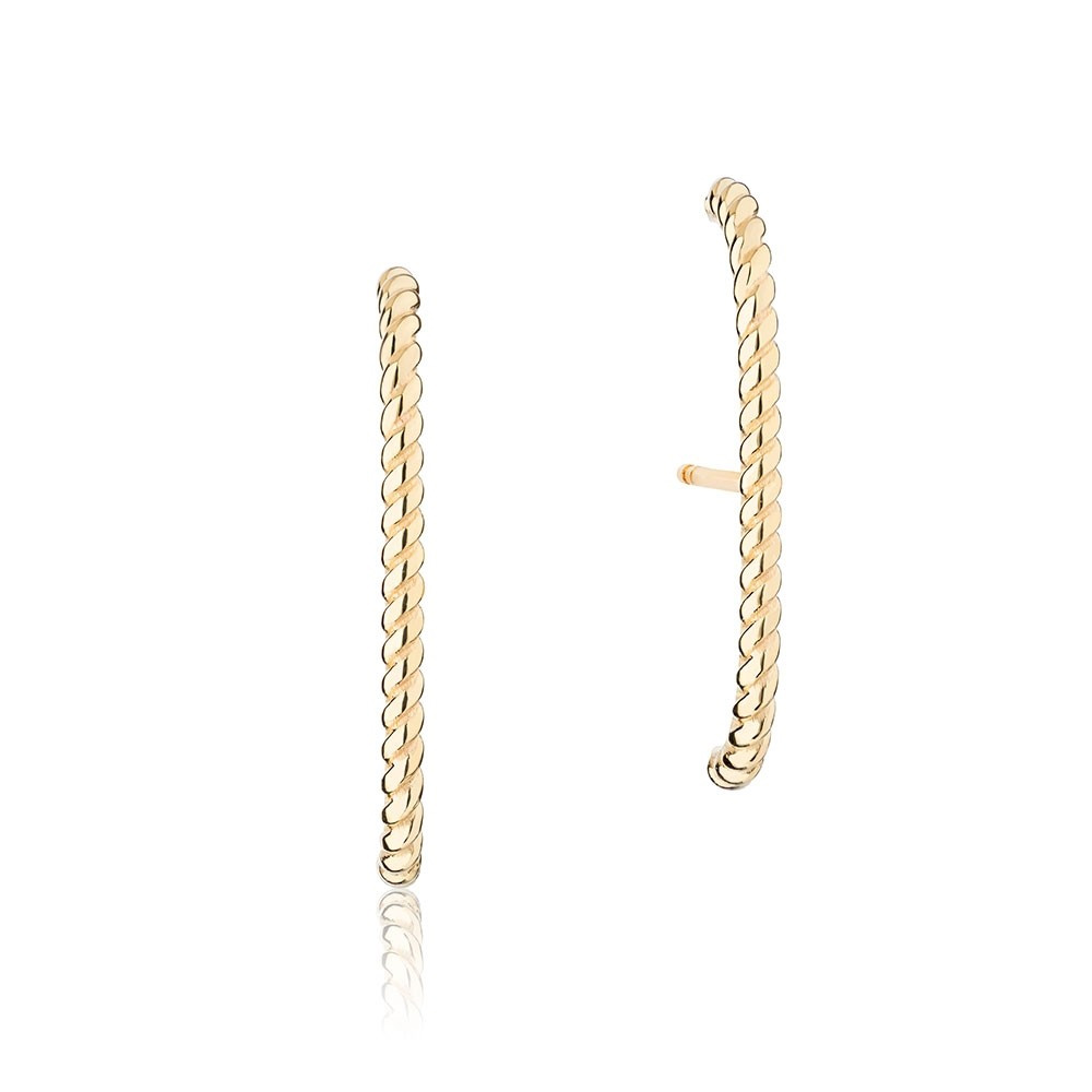 Ecksand Tresses bar stud earrings as seen on Meghan, Duchess of Sussex