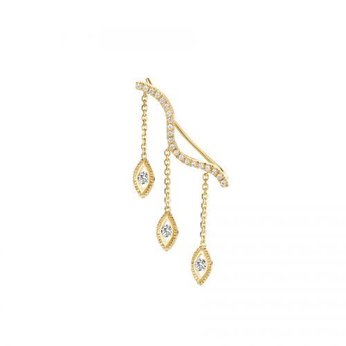 Kimai 'Felicity' 18k gold diamond earrings as seen on Meghan, Duchess of Sussex