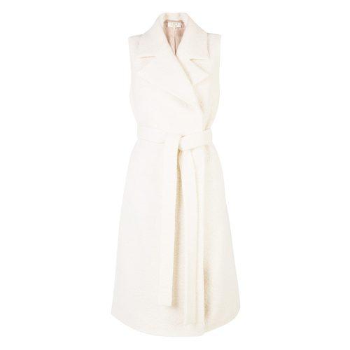 LUBLU Kira Plastinina milky white wool vest as seen on Meghan Markle