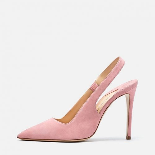 Paul Andrew Coquette slingback pumps (pink) as seen on Meghan, Duchess of Sussex who wore them in a custom Camel.