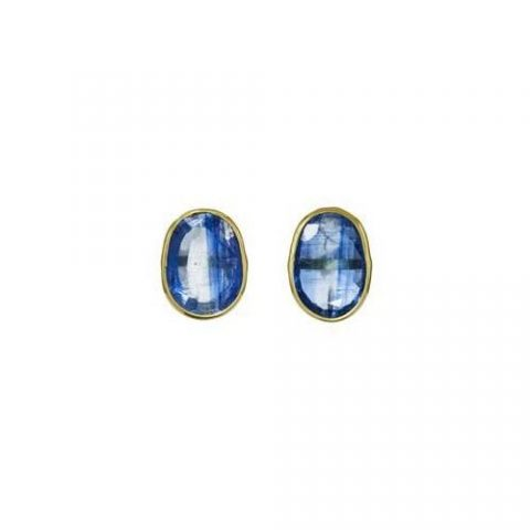 Pippa Small classic stud earrings in Kyanite as seen on Meghan Markle / Duchess of Sussex