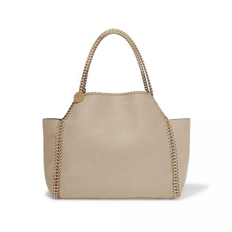 Stella McCartney The Falabella Medium Reversible Faux Brushed-leather Tote in Off-white as seen on Meghan, Duchess of Sussex