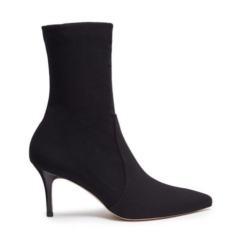 Stuart Weitzman Axiom Pinnacle stretch ankle booties as seen on Meghan Markle