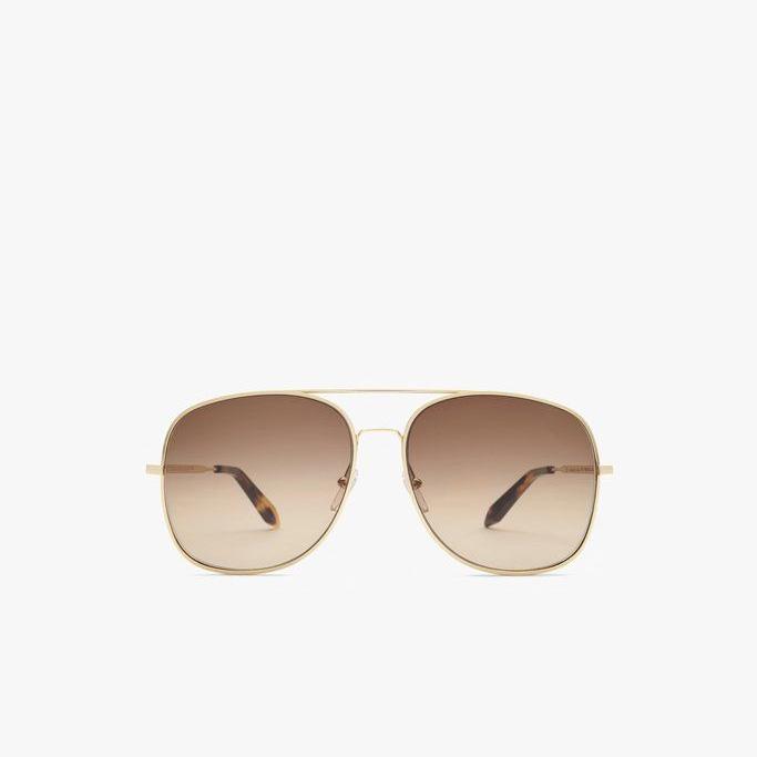 Victoria Beckham Metal Navigator Power Frame Sunglasses as seen on Meghan, Duchess of Sussex