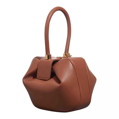 Gabriela Hearst 'Nina' bowling bag in brown leather as seen on Meghan, Duchess of Sussex